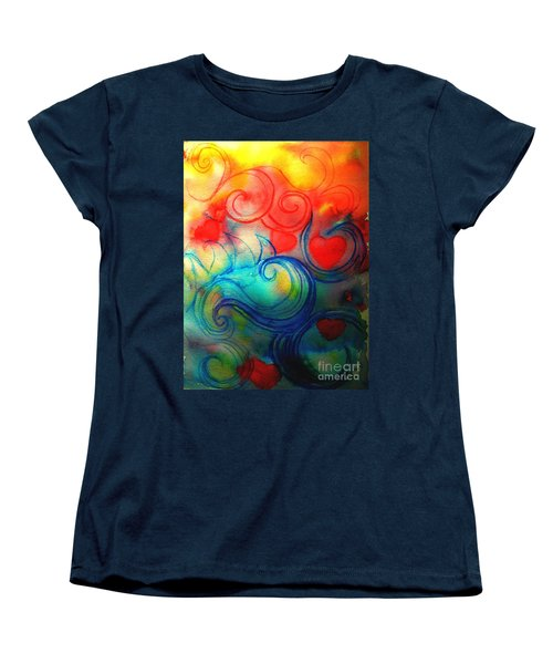 Women's T-Shirt (Standard Cut) featuring the painting Depths Of His Love by Hazel Holland