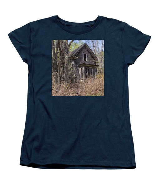 Women's T-Shirt (Standard Cut) featuring the photograph Derelict House by Marty Saccone