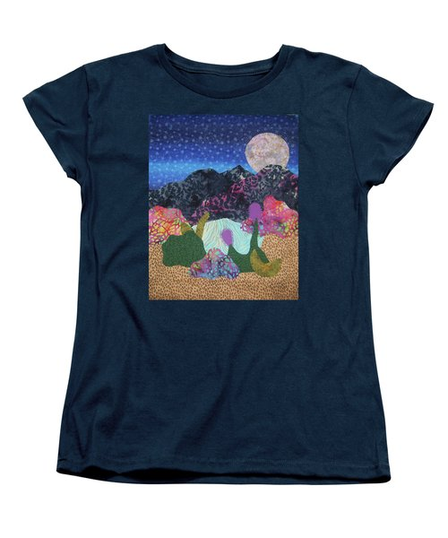 Women's T-Shirt (Standard Cut) featuring the tapestry - textile Desert Dreaming by Ellen Levinson