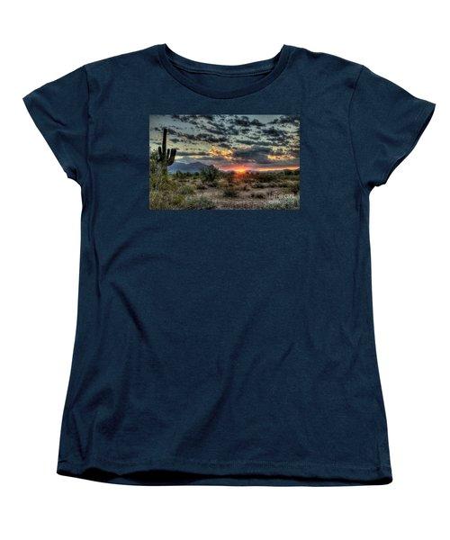 Desert Sunrise  Women's T-Shirt (Standard Cut) by Saija  Lehtonen
