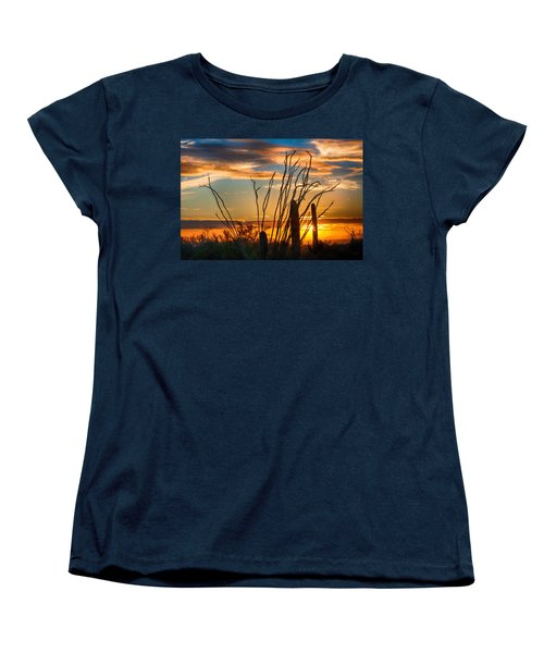 Desert Sunset Women's T-Shirt (Standard Cut) by Fred Larson