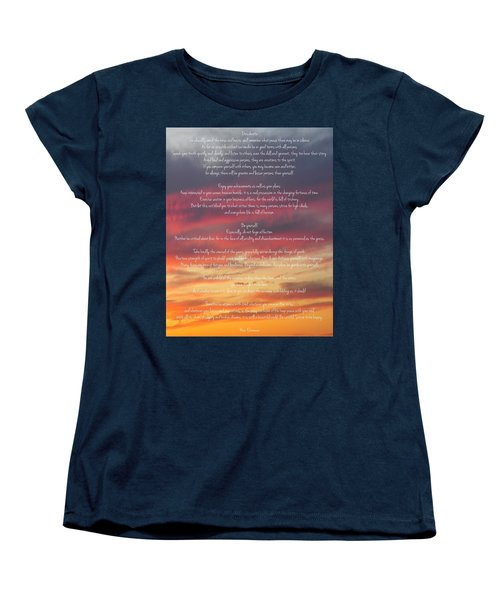 Desiderata Sky 2 Women's T-Shirt (Standard Cut) by Terry DeLuco