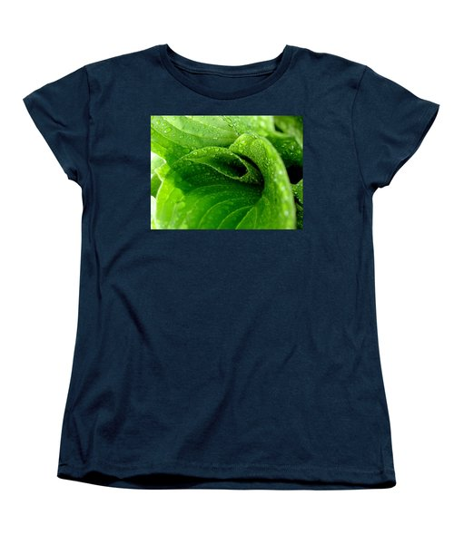 Women's T-Shirt (Standard Cut) featuring the photograph Dew Drops by Lisa Phillips