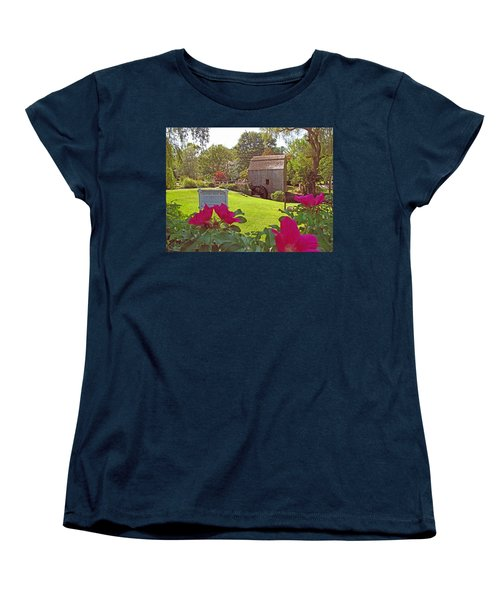 Women's T-Shirt (Standard Cut) featuring the photograph Dexters Grist Mill Two by Barbara McDevitt