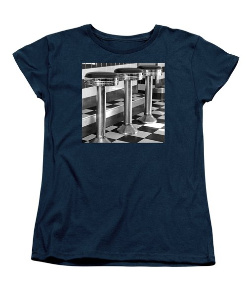 Diner Stools Women's T-Shirt (Standard Cut) by Lisa Phillips