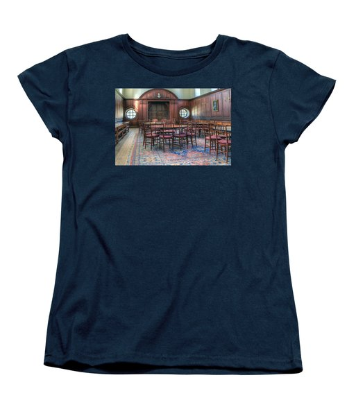 Women's T-Shirt (Standard Cut) featuring the photograph Dining Hall Wren Building by Jerry Gammon