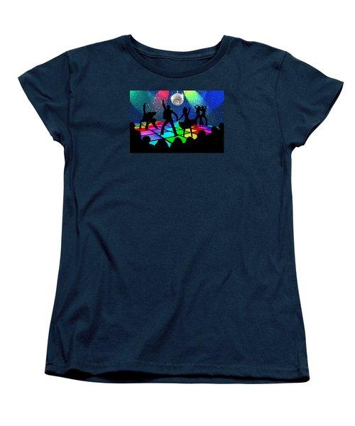 Disco Fever Women's T-Shirt (Standard Cut) by Nina Bradica