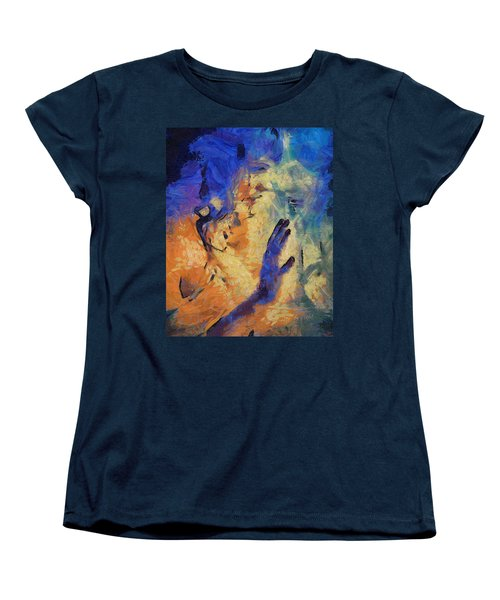 Women's T-Shirt (Standard Cut) featuring the painting Discovering Yourself by Joe Misrasi