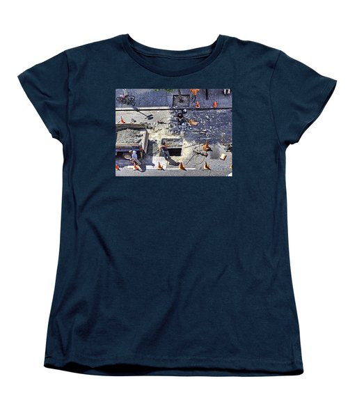 Dog Daze Women's T-Shirt (Standard Cut) by Steve Sahm