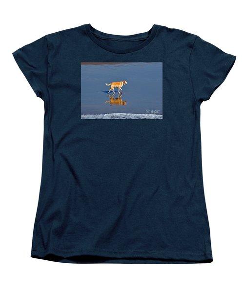 Dog On Water Mirror Women's T-Shirt (Standard Cut)