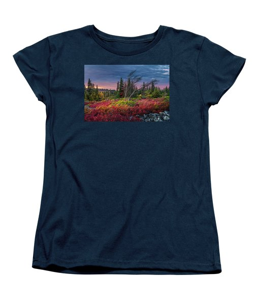 Dolly Sods Windswept Sunset Women's T-Shirt (Standard Cut) by Mary Almond