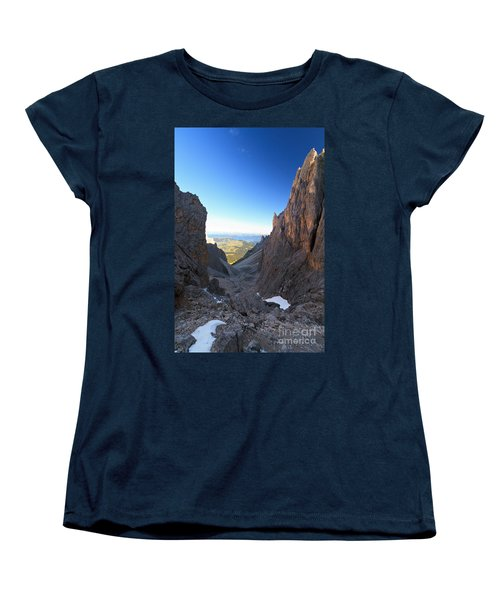 Women's T-Shirt (Standard Cut) featuring the photograph Dolomites At Morning by Antonio Scarpi