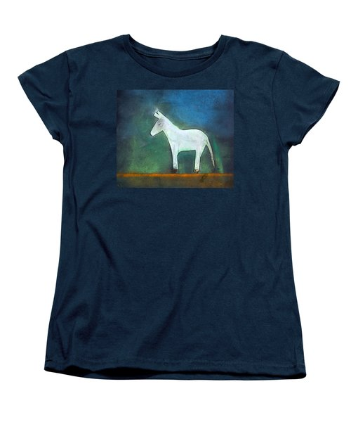 Donkey, 2011 Oil On Canvas Women's T-Shirt (Standard Cut) by Roya Salari