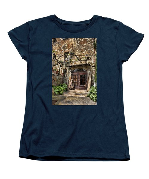 Women's T-Shirt (Standard Cut) featuring the photograph Door Montepulciano Italy by Hugh Smith
