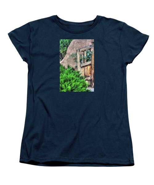 Door, Santuario De Chimayo Women's T-Shirt (Standard Cut) by Lanita Williams