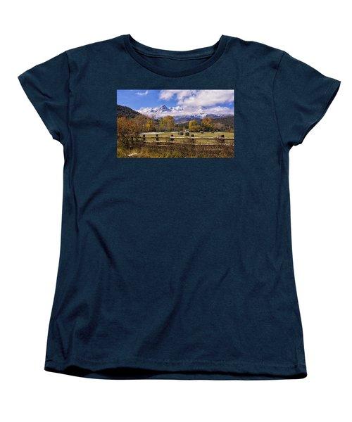 Double Rl Ranch Women's T-Shirt (Standard Cut) by Priscilla Burgers