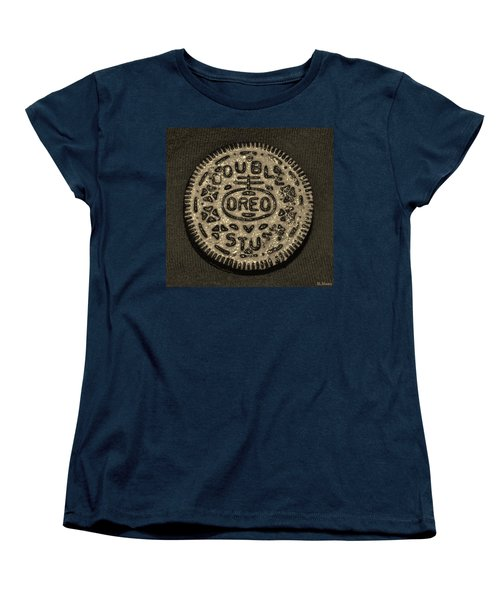 Double Stuff Oreo In Sepia Negitive Women's T-Shirt (Standard Cut)
