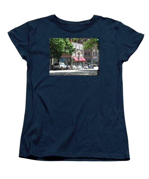 Downtown Neighborhood Women's T-Shirt (Standard Cut) by David Trotter
