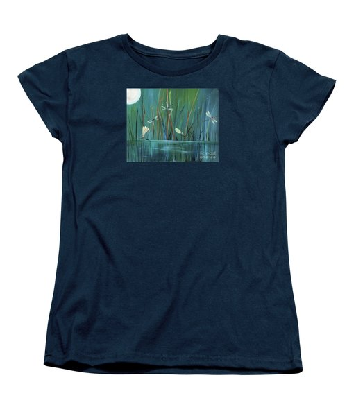 Dragonfly Diner Women's T-Shirt (Standard Cut) by Carol Sweetwood