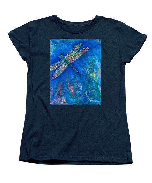 Dragonfly Flying High Women's T-Shirt (Standard Cut) by Denise Hoag