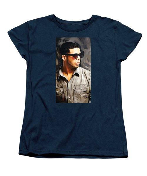 Drake Artwork 2 Women's T-Shirt (Standard Cut) by Sheraz A