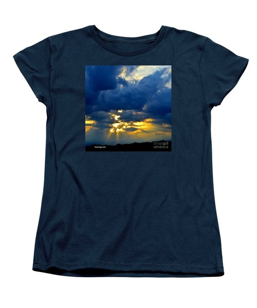 Dramatic Clouds Women's T-Shirt (Standard Cut) by Luther Fine Art