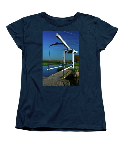 Drawbridge At Zaanse Schans Women's T-Shirt (Standard Cut) by Jonah  Anderson