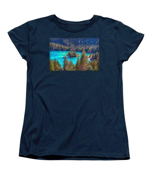 Dream Lake Women's T-Shirt (Standard Cut) by Hanny Heim