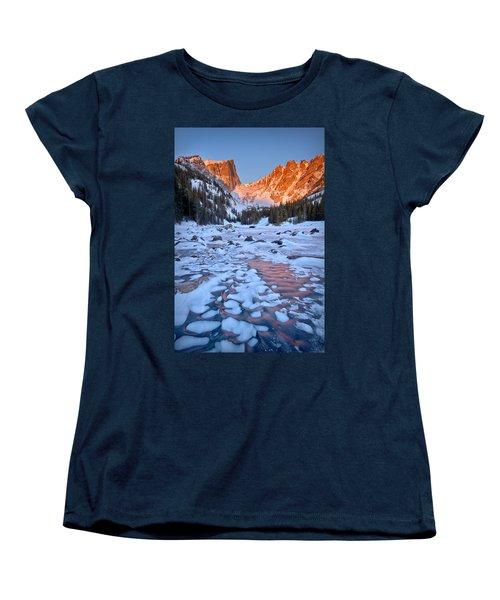 Dream Lake - Rocky Mountain National Park Women's T-Shirt (Standard Cut) by Ronda Kimbrow
