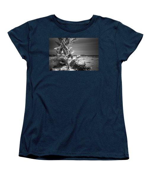 Driftwood At Race Point Women's T-Shirt (Standard Cut) by Brian Caldwell