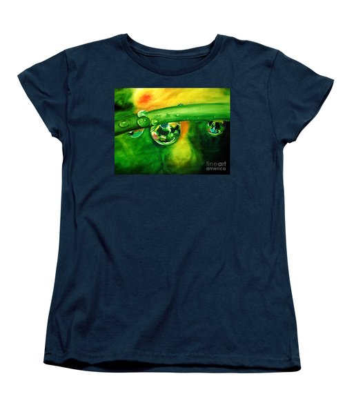 Women's T-Shirt (Standard Cut) featuring the painting Droplets by Allison Ashton