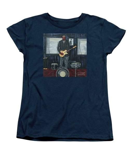 Drums And Wires Women's T-Shirt (Standard Cut) by Sandra Marie Adams