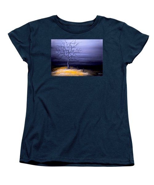 Dry Winter Women's T-Shirt (Standard Cut) by Alban Dizdari