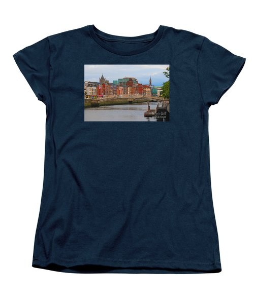 Dublin On The River Liffey Women's T-Shirt (Standard Cut) by Mary Carol Story