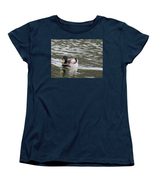 Women's T-Shirt (Standard Cut) featuring the photograph Duck Out For A Swim by Aaron Martens