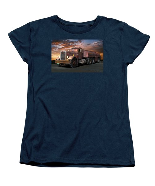 Duel Truck With Trailer Women's T-Shirt (Standard Cut) by Stuart Swartz