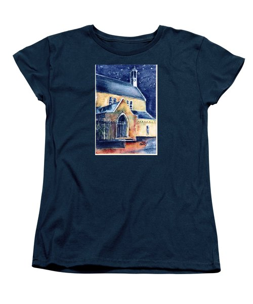 Women's T-Shirt (Standard Cut) featuring the painting Duiske Abbey Ireland    by Trudi Doyle