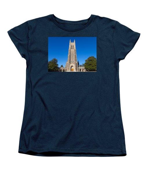Duke Chapel Women's T-Shirt (Standard Cut) by Melinda Fawver
