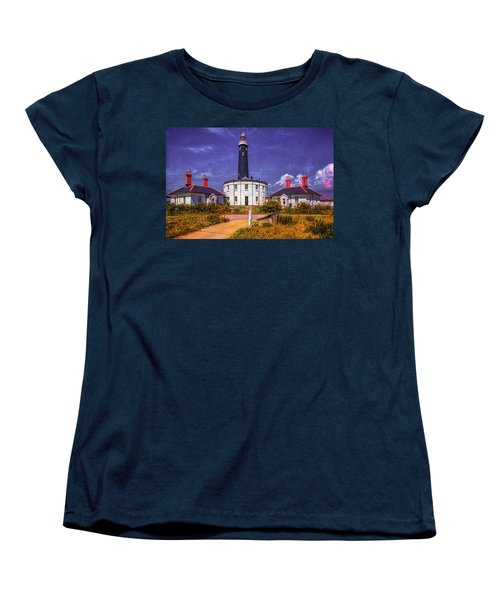 Women's T-Shirt (Standard Cut) featuring the photograph Dungeness Old Lighthouse by Chris Lord