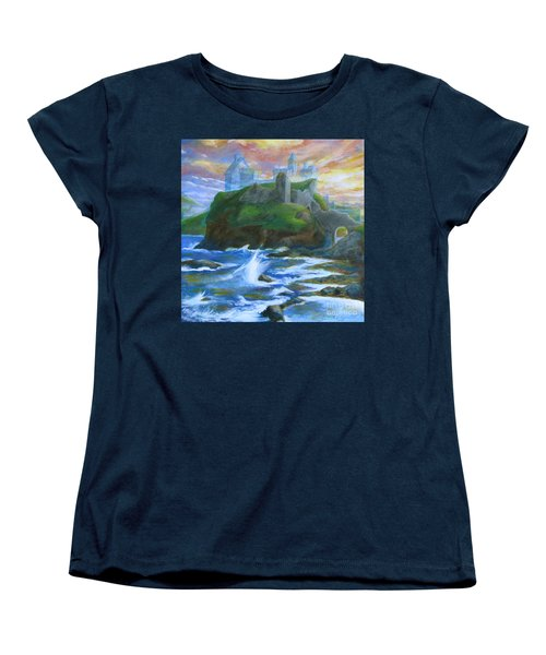 Dunscaith Castle - Shadows Of The Past Women's T-Shirt (Standard Cut) by Samantha Geernaert