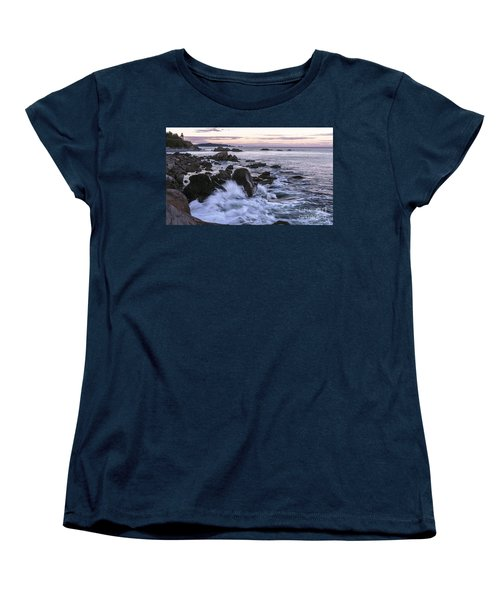 Dusk At West Quoddy Head Light Women's T-Shirt (Standard Cut) by Marty Saccone