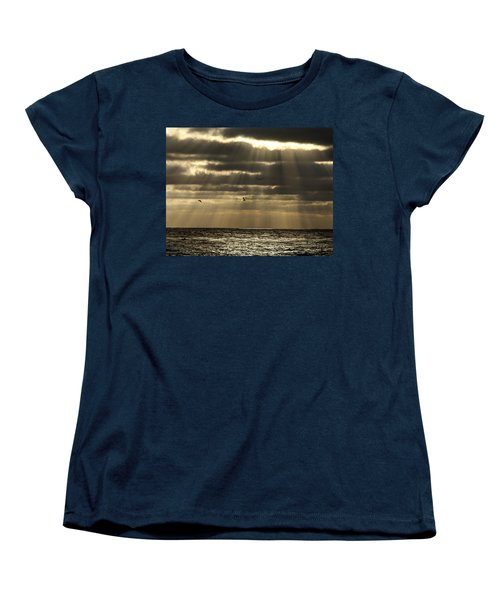 Dusk On Pacific Women's T-Shirt (Standard Cut) by Joe Schofield