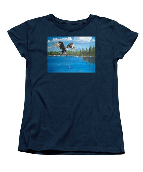 Eagle Attack Women's T-Shirt (Standard Cut) by Norm Starks
