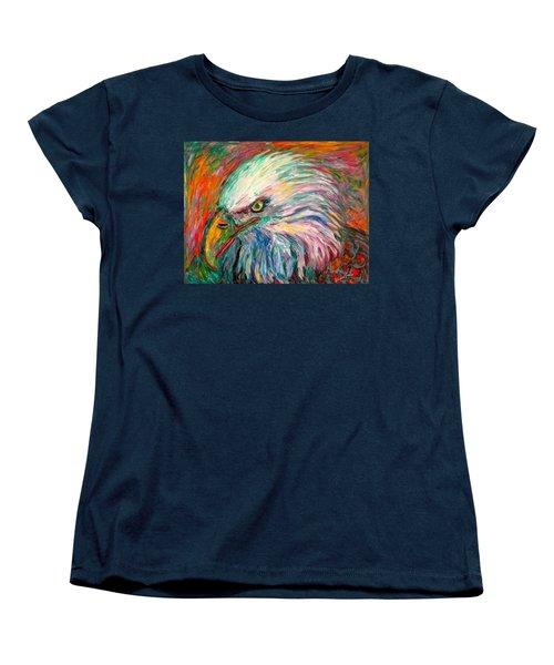 Eagle Fire Women's T-Shirt (Standard Cut) by Kendall Kessler