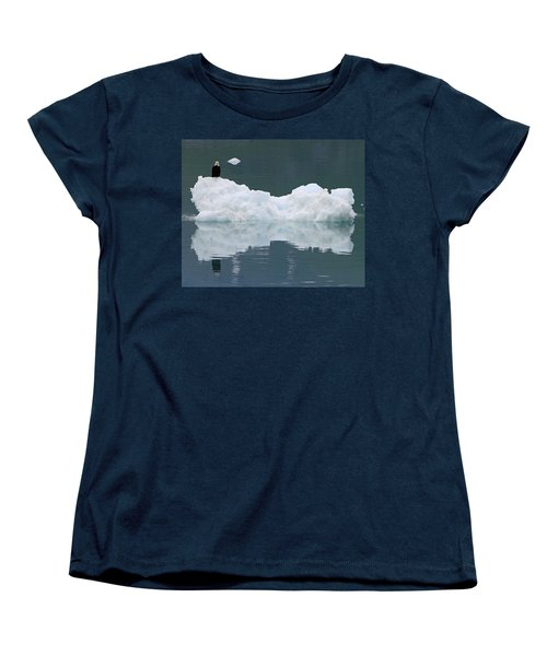 Eagle On Ice Women's T-Shirt (Standard Cut) by Shoal Hollingsworth
