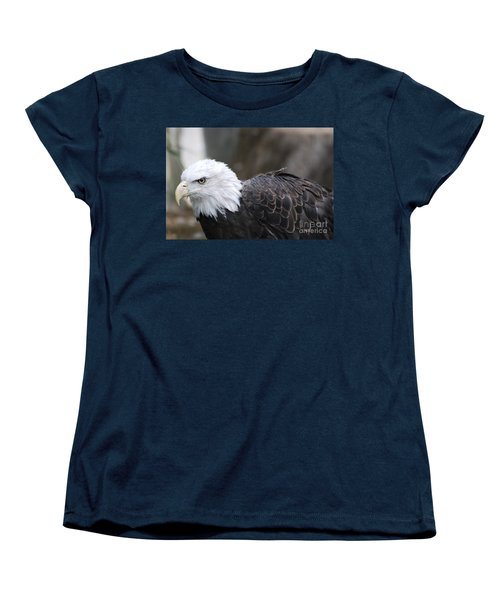 Eagle With Ruffled Feathers Women's T-Shirt (Standard Cut) by DejaVu Designs