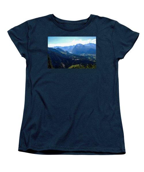 Eagle's Nest Vista Women's T-Shirt (Standard Cut) by Marilyn Burton