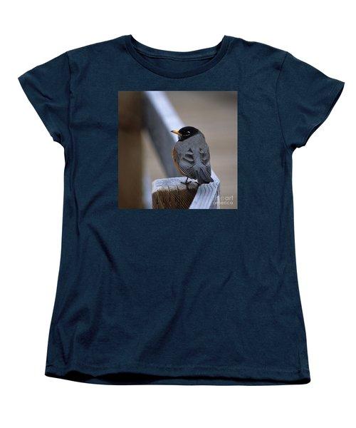 Women's T-Shirt (Standard Cut) featuring the photograph Early Bird by Sharon Elliott