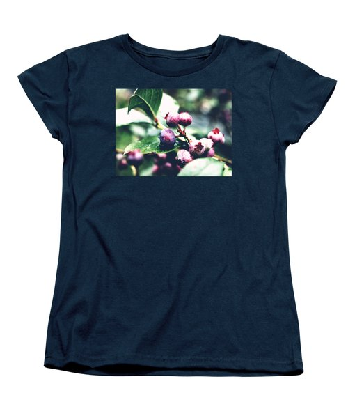 Early Blueberries Women's T-Shirt (Standard Cut) by Rachel Mirror