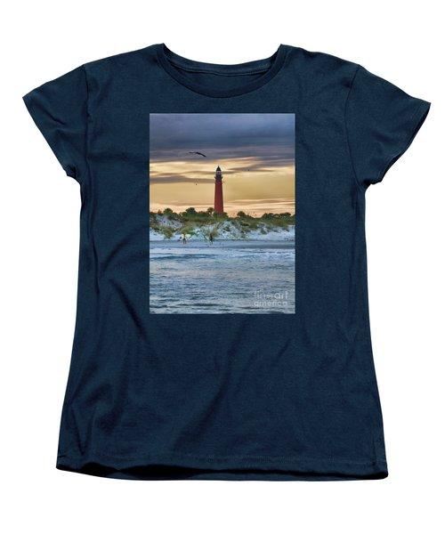 Early Evening Sky Women's T-Shirt (Standard Cut) by Deborah Benoit